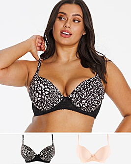 2 Pack Super Boost Plunge Bra