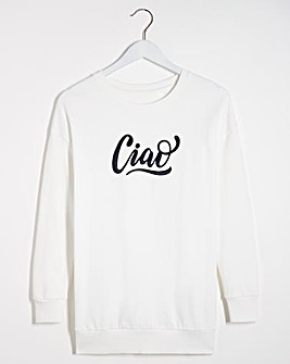 Ciao Embroidered Placement Sweatshirt