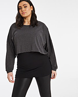 Crop Layered T-Shirt
