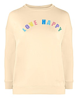 Pastel Love Happy Sweatshirt