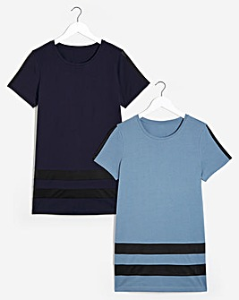 Pack 2 Longline T-Shirts