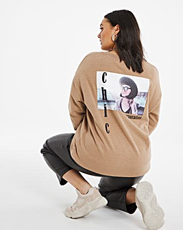 Camel Back Graphic Sweatshirt
