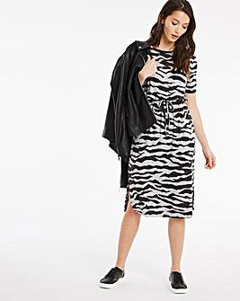 Neutral Animal Print Soft Touch Dress