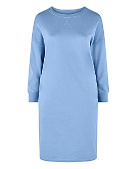 Pastel Blue Marl Sweatdress