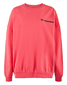 Oversized Sweatshirt with Back Graphics