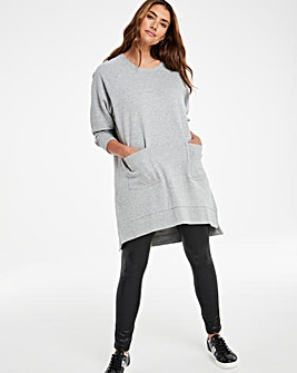 Grey Marl Pocket Front Sweatdress