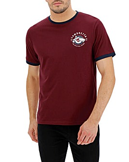 Lambretta Ringer Chest Logo T-Shirt Long