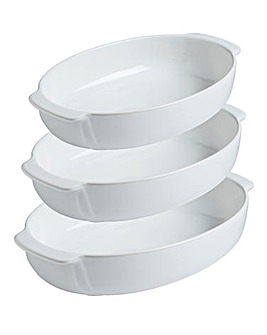 Pyrex Signature Oval Roaster Set