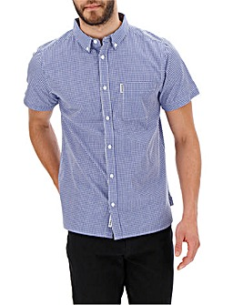 Lambretta Gingham Trim Shirt