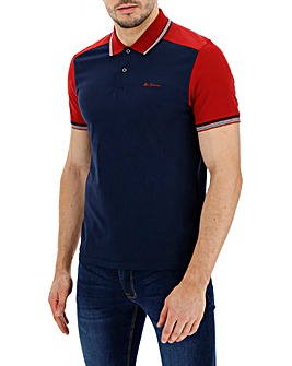 Ben Sherman Colour Block Polo Long
