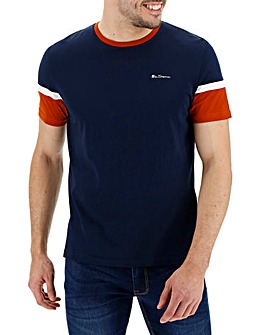 Ben Sherman Colour Block T-Shirt Long