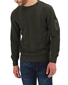 Firetrap Hinchcliffe Cable Knit Jumper