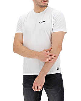 Firetrap White City Chest Logo Crew T-Shirt Long