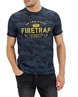 Firetrap Camo Print T-Shirt