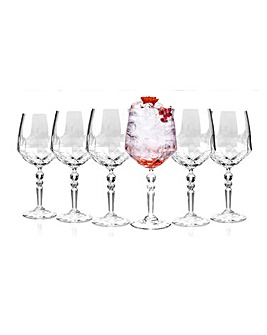 RCR Crystal Set of 6 Gin Glasses