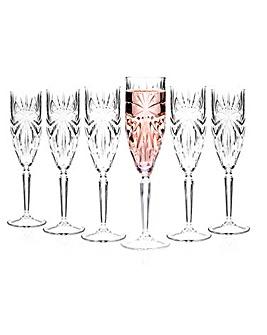 Oasis RCR Crystal Champagne Flutes