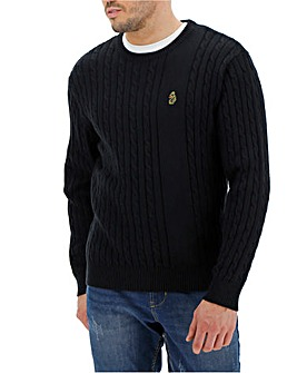 Luke Sport Spencer Cable Knit Jumper