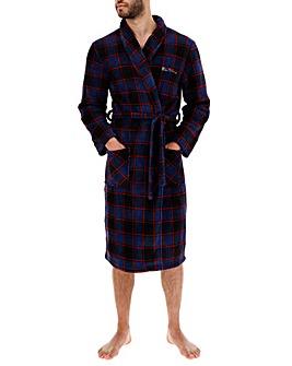 Ben Sherman Navy Check Dressing Gown
