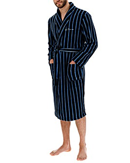 Ben Sherman Navy Check Dressing Gown