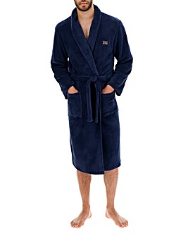 Ben Sherman Plain Navy Dressing Gown