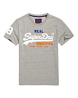 Superdry Vintage Logo Grey Tee