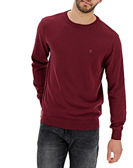 Peter Werth Crew Neck Wine Jumper