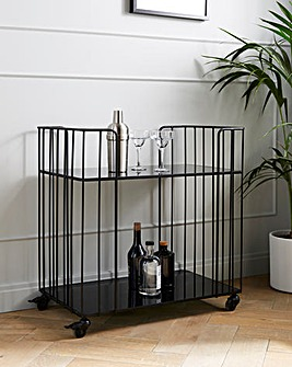 Luxe Black Drinks Trolley