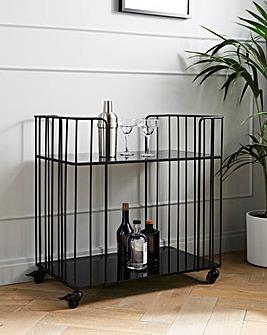 Luxe Black Drinks Trolley