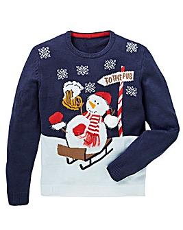 Label J Snowman Xmas Knit Long