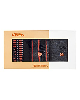 Superdry Boxed City Sock Triple Pack