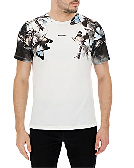 Religion Butterfly Print Tshirt Long