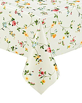 Floral PVC Wipe Clean Tablecloth