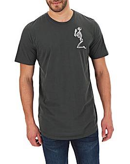 Religion Praying Skeleton T-Shirt Long
