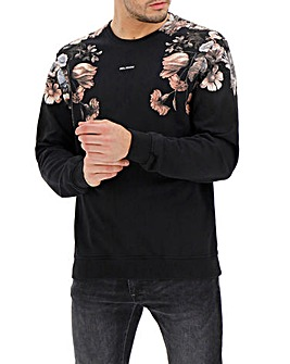 Religion Flower Print Crew Sweat Long