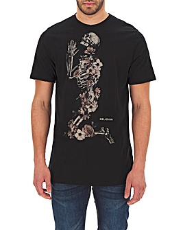 Religion Praying Skeleton T-Shirt Long