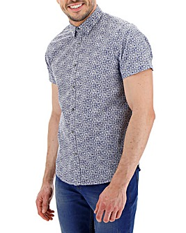 French Connection Printed Short Sleeve Shirt
