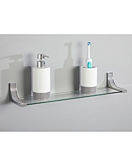 Glitz Square Bathroom Shelf