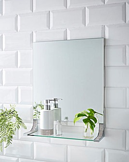 Glitz Square Bathroom Mirror Shelf