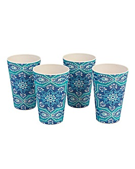 St Tropez Set of 4 Bamboo Cups