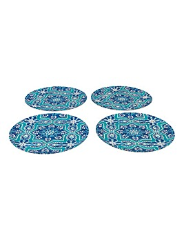 St Tropez Set of 4 Bamboo Plates