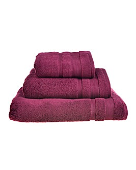 Egyptian Cotton Towel Range Beetroot