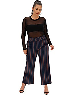 Pin Stripe Wide Leg Trousers