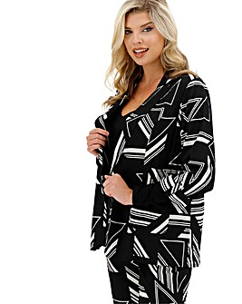 Black Print Lightweight Blazer