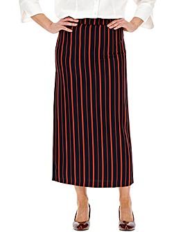 Pin Stripe Tailored Maxi Skirt