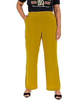 Chartreuse Wide Leg Trousers