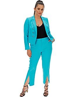 Aqua Split Hem Tapered Trousers