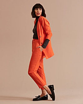 Orange Tapered Leg Trousers