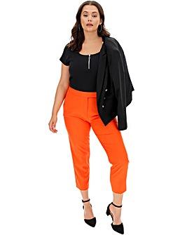 Orange Tapered Leg Trousers