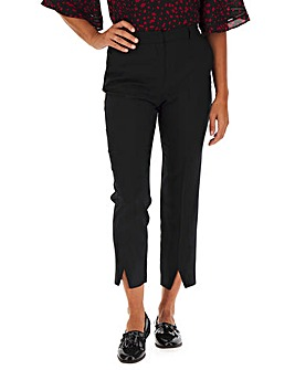 Black Tapered Trousers with Seam Split