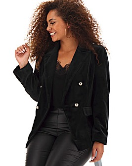 Black Velour Trophy Blazer